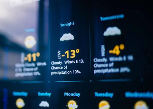 无缝液晶拼接屏应用于气象水利